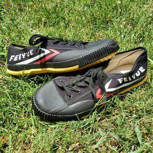 Feiyue Black Canvas Sneakers NWoT